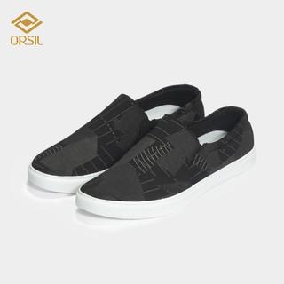 [Mã FASHIONMALLT4 giảm 15% tối đa 30K đơn 150k] Giày lười nam ORSIL vải jean họa tiết caro ma L16