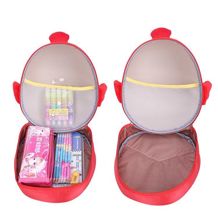 Balo cho bé trai bé gái đi học mẫu giáo mầm non hình trứng siêu nhẹ đáng yêu BL05