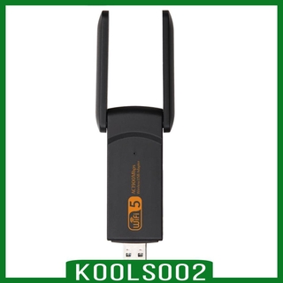 [KOOLSOO2] WiFi Adapter 1200Mbps, USB 3.0 Dual Band USB Wifi Dongle Network Adapter with 2 Antennas for PC Desktop Laptop