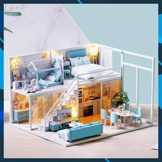 Mô hình nhà búp bê gỗ DIY Nhà búp bê lắp ghép Poetic Life L028 Toy World thumbnail