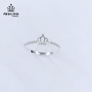 [Mã MCJ20 giảm 20K đơn từ 199K] Nhẫn Bạc Nữ Hình Vương Miện Đính Đá - Minh Canh Jewelry thumbnail