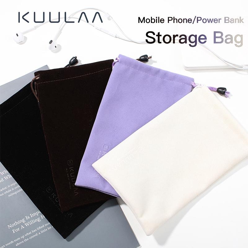 Túi Vải KUULAA Đựng Sạc Dự Phòng Và Cáp USB Chống Thấm Nước Cho iPhone Samsung Xiaomi Huawei