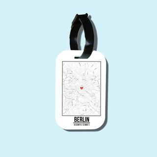 Travel tag cho túi xách balo du lịch in hình Love City - Berlin thumbnail
