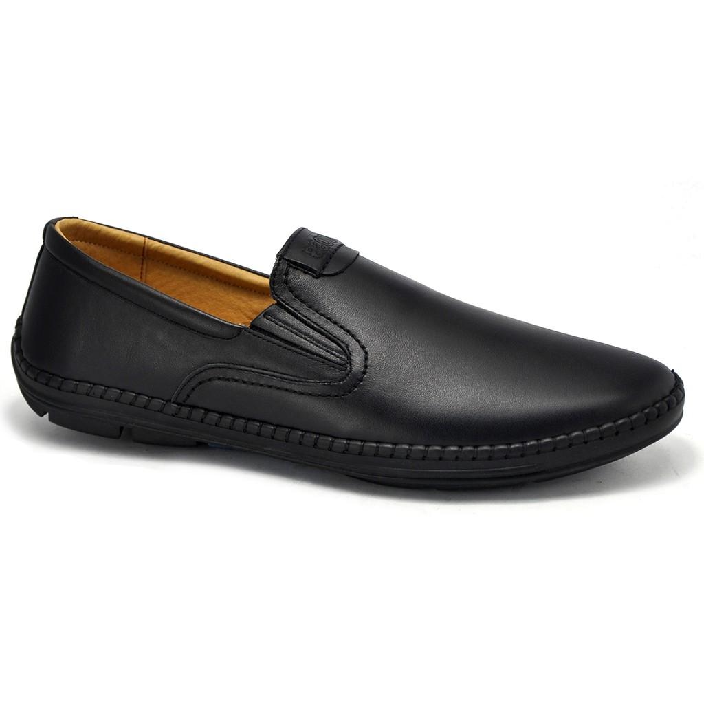 Giày lười da thật, đế cao su non êm chân - GL85 (Size LỚN)