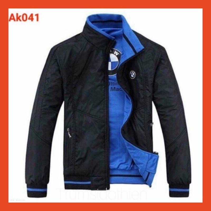 [Freeship- GIÁ SỈ XƯỞNG ] Áo khoác gió mặc 2 mặt thêu logo bmmw, áo khoác nam, áo khoác dù, áo khoác nữ