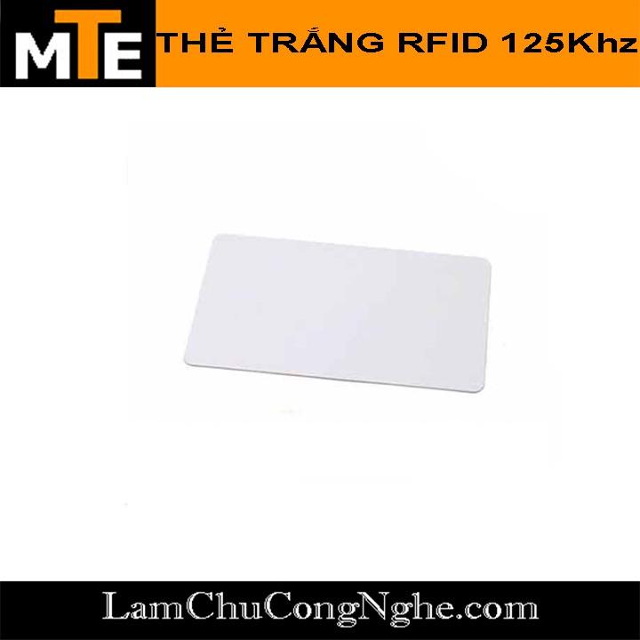 Thẻ từ RFID 125Khz ( thẻ ID chip TK4100 dùng làm thẻ nhân viên, thang máy ...)