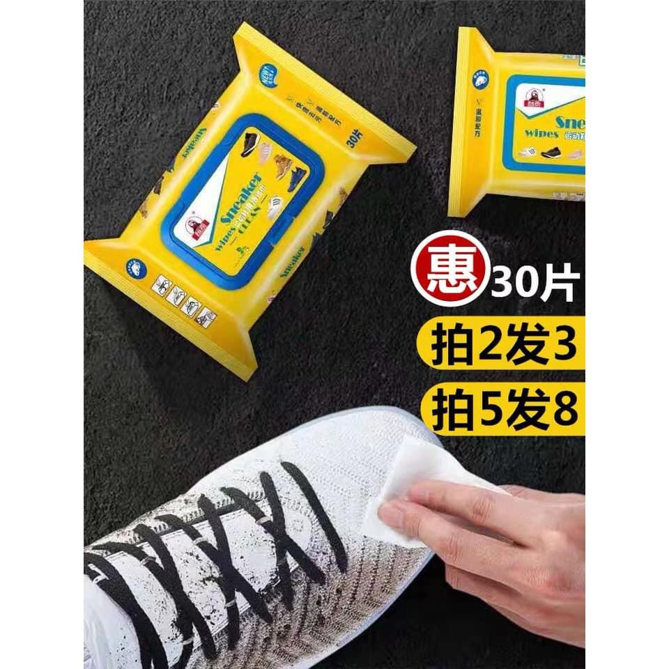 Gói 30 tờ giấy lau giày thần thánh sneaker