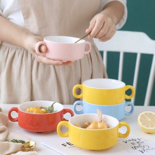 Bát sứ ăn súp, bát chè, bát salad, bát decor món ăn có 2 quai cầm 🍓 sẵn hàng 🍓