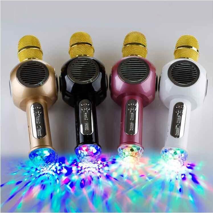 (Giá hủy diệt) Mic hát karaoke M8 có đèn led nháy theo điệu nhạc