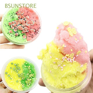60/100ml Stress Relief Kids Toy Pineapple Charm Playdough Floam Sludge Fluffy Fruit