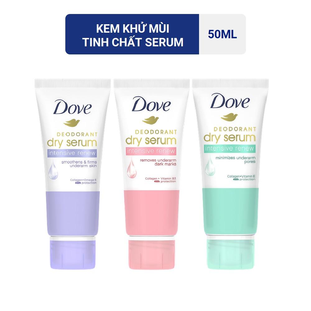 Kem Khử Mùi Dove Tinh Chất Serum Sáng Mịn 50ml