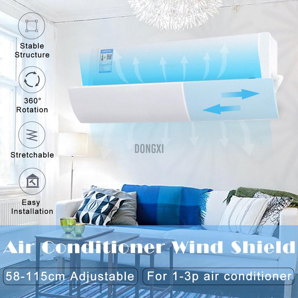 Air Conditioner Wind Shield Blowing Baffle Anti Direct Deflectors Retractable