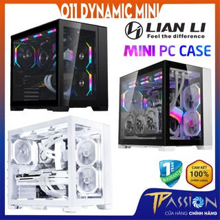 Vỏ case máy tính Lian Li O11 Dynamic Mini Black White Snow Trắng - Chính hãng thumbnail