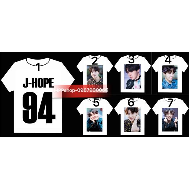 Áo J-HOP BTS in hình ảnh trực tiếp vào vải