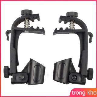 2 Pcs Adjustable Clip On Drum Rim Shock Mount Microphone Mic Clamp Holder