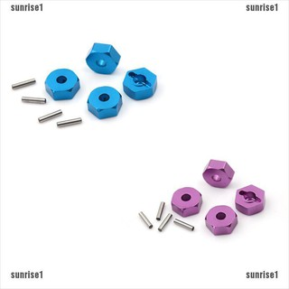 ⭐sunrise⭐️4pcs Aluminum Wheel Hex Nut 12MM With Pins Drive Hubs HSP 1/10 Upgrade Parts[sun]