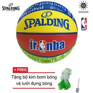 Bóng rổ Spalding NBA Junior Outdoor Size 5 dành cho trẻ em Tặng bộ kim bơm bóng và lưới đựng bóng