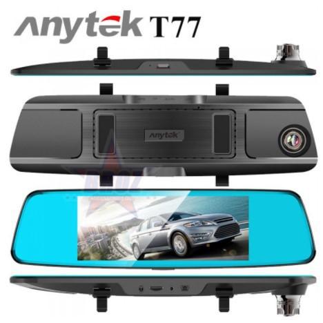 Camera Hành Trình Gương Anytek T77 Full HD- Camera ô tô ghi hình trước sau siêu nét