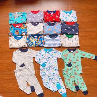 Bộ cotton thu đông bé trai, Bộ cotton thu đông bé gái, bộ mặc nhà bé trai, bé gái