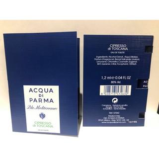 Nước hoa Acqua Di Parma Blu Mediterraneo Cipresso Di Toscana  mẫu thử vial 1.5ml