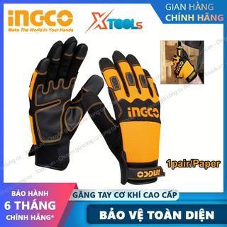 Găng tay bảo hộ lao động cao cấp INGCO HGMG02 bao tay cơ khí chống cắt, trơn trượt, mài mòn, thấm hút mồ hôi, cách nhiệt