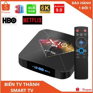 Tv box ram 4G ,tv box x10 bộ nhớ 32gb , xem phim 6k , chơi game , hỗ trợ tìm kiếm giọng nói , bảo hành 3 năm