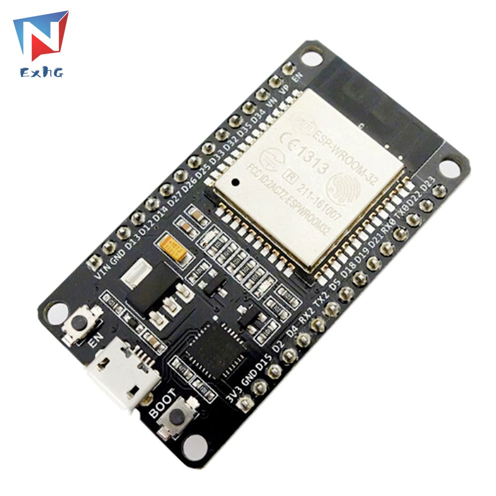ExhG❤❤❤High quality ESP-32 Development Board WiFi+Bluetooth 2-In-1 Dual Core 2.4 GHz Antenna Module Ultra-Low Power ESP3