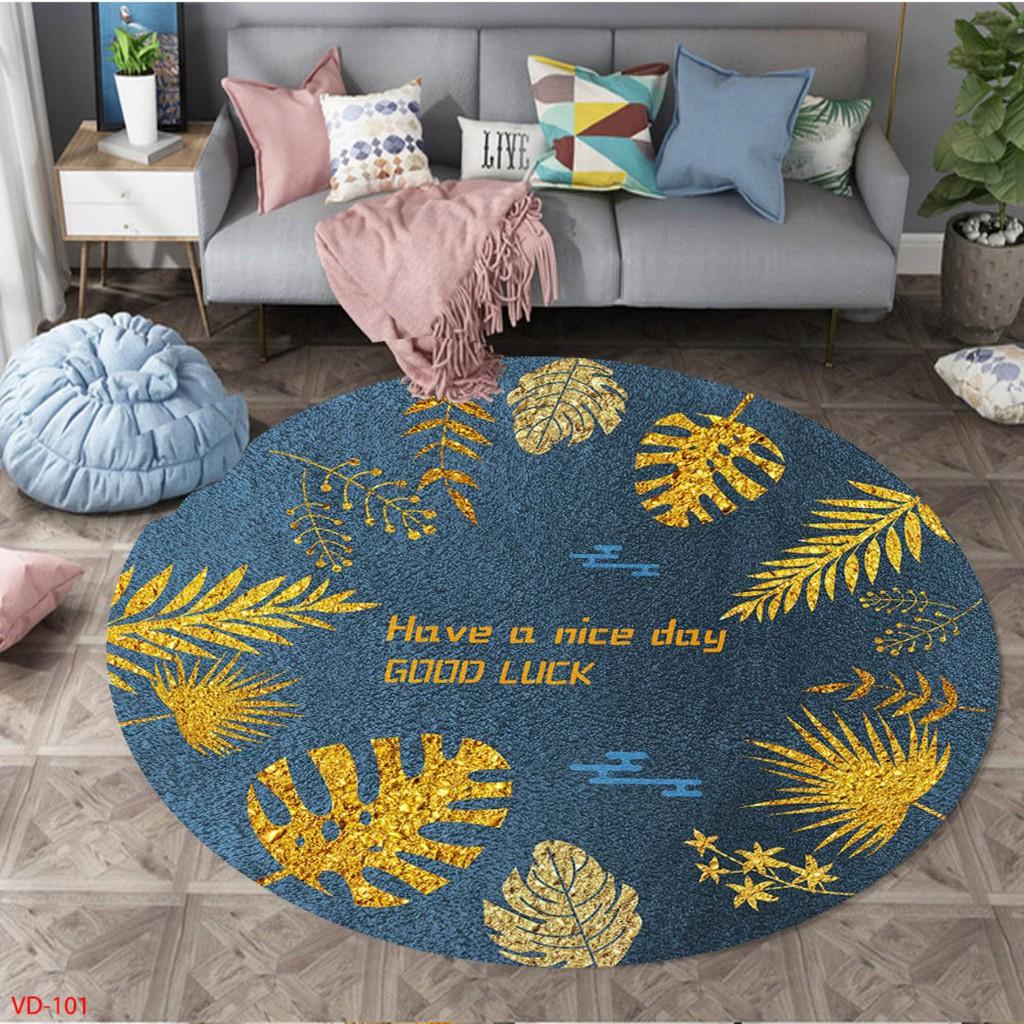 𝐓𝐡𝐚̉𝐦Trải Sàn 𝐁𝐚𝐥𝐢 hình tròn Trải Sàn Trang Trí Cao Cấp, Thảm Lì Bali  Hàng Đẹp (Mặt Sau đế cao su Chống Trơn Trượt)