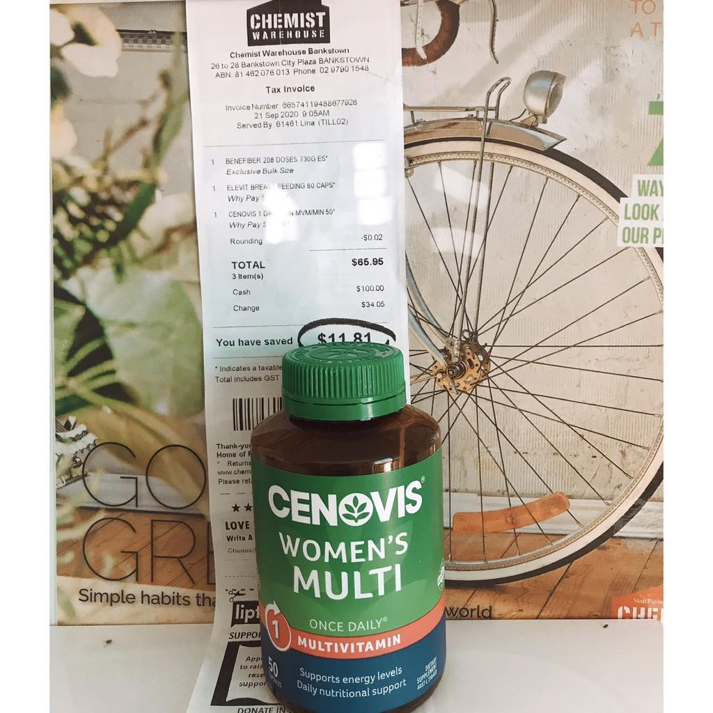 Cenovis Women's Multi - Once-Daily Multivitamin - 50 Capsules
