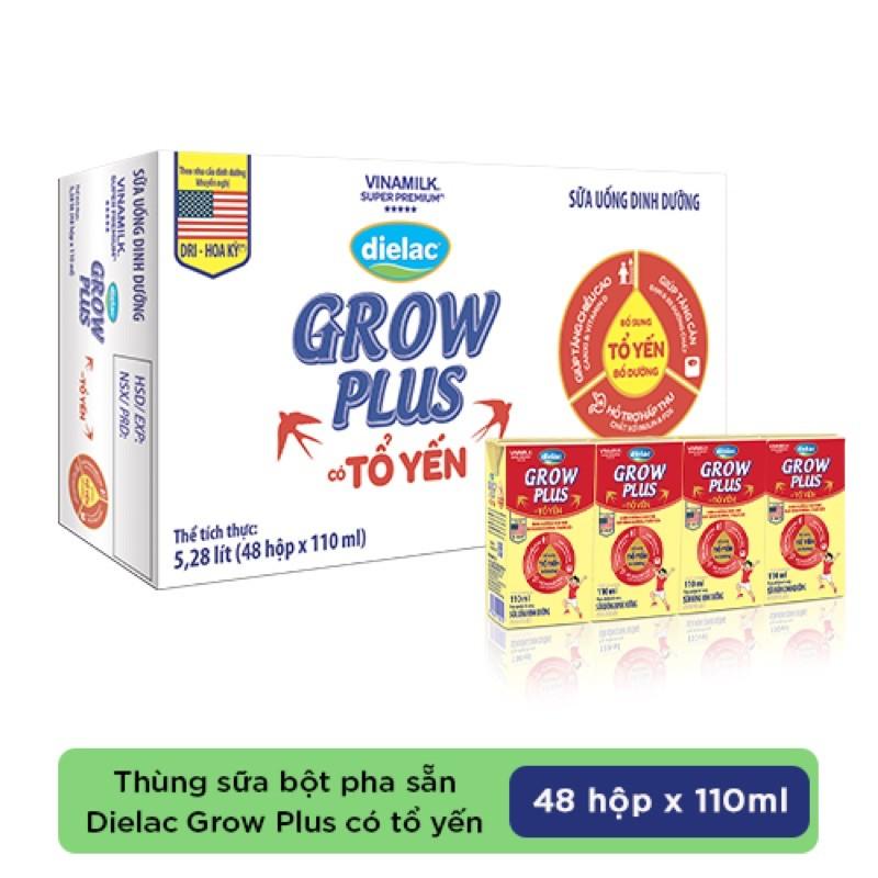 Thùng 48 hộp Sữa bột pha sẵn Dielac Grow Plus có tổ yến