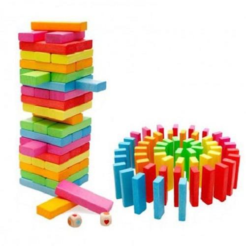 Rút gỗ màu 48 thanh loại lớn - Domino màu cho bé - hàng Việt Nam chất lượng cao