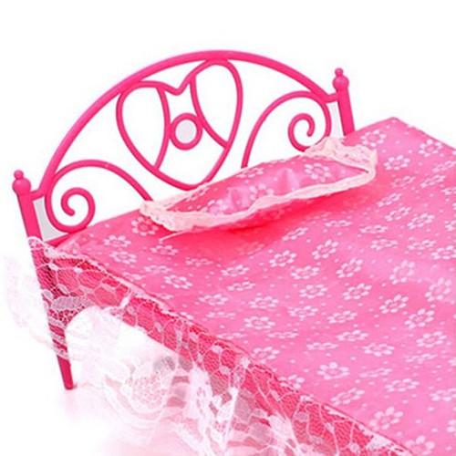 Giường Đơn Bằng Nhựa Cho Búp Bê Barbie