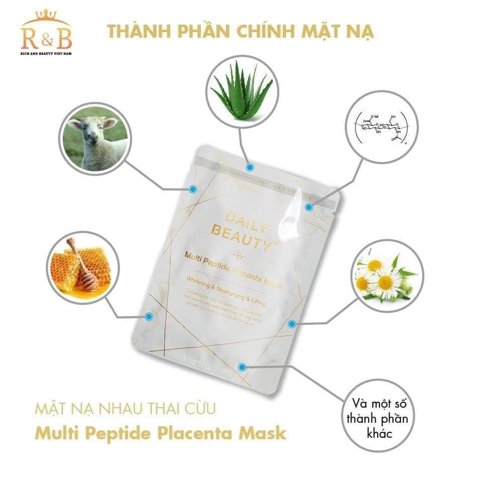 Multi peptide placenta mask