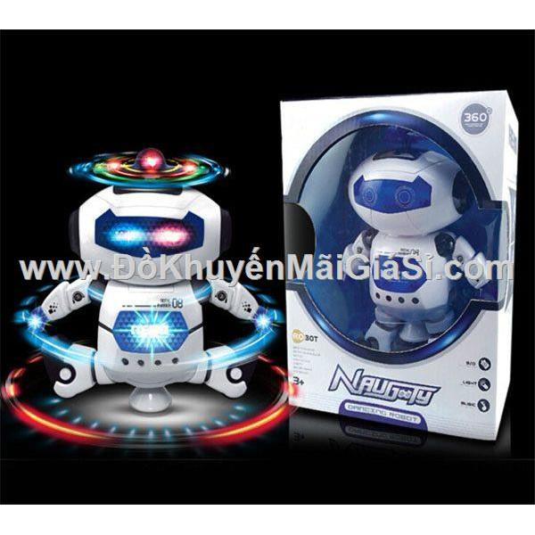 Rô bốt nhảy múa 360 độ có nhạc đèn + pin - Nutifood tặng. - 3337945 , 1080203413 , 322_1080203413 , 98000 , Ro-bot-nhay-mua-360-do-co-nhac-den-pin-Nutifood-tang.-322_1080203413 , shopee.vn , Rô bốt nhảy múa 360 độ có nhạc đèn + pin - Nutifood tặng.