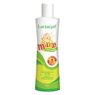 Sữa Tắm Gội Lactacyd Milky 250ml Ngừa Rôm Sảy Cho Bé
