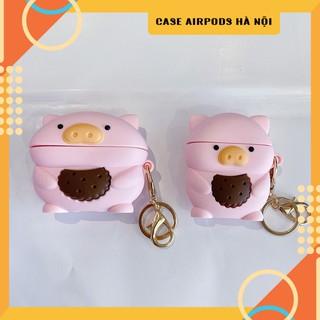 Case Airpods – Ốp Airpods 1/2/3 ( Pro ) – Lợn ôm bánh