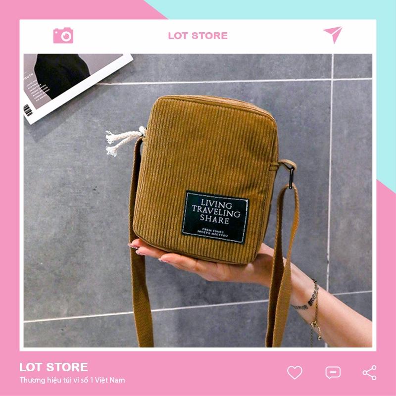Túi tote canvas đeo chéo giá rẻ trơn vải mềm đi học TX59