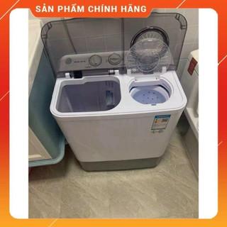 Máy giặt mini AUX bán tự động giặt được 6kg quần áo, máy giặt quần áo 2 lồng chính hãng chất lượng tốt