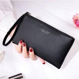 (Ảnh thật) Ví da, ví dài cầm tay có quay đeo cổ tay đựng được điện thoại, thẻ dễ cất,dễ lấy JIU005 thumbnail