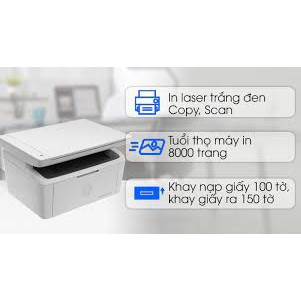 Máy in Đa chức năng HP LaserJet Pro MFP M28A (W2G54A) (In, Scan, Copy) chính hãng