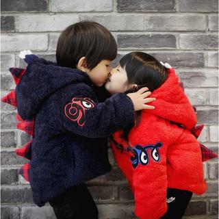 Áo khoác giữ ấm tạo hình khủng long thời trang mùa đông cho bé