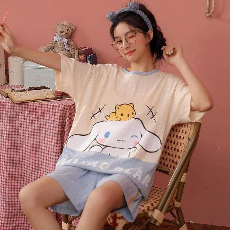 ( sẵn ) Đồ ngủ, đồ bộ hình nhận vật họat hình cinnamoroll siêu dễ thương