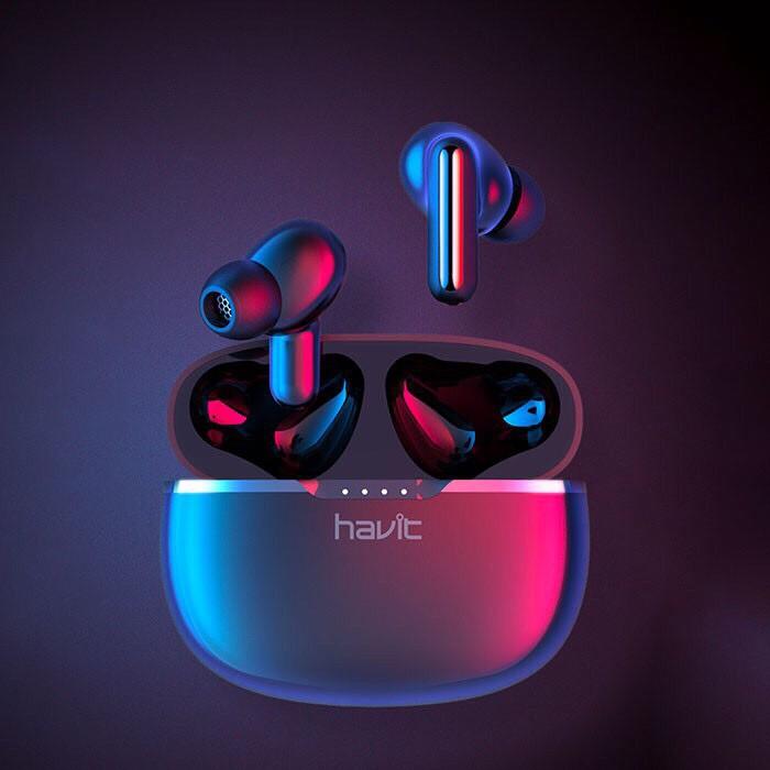 Tai nghe Bluetooth Havit i99 thế hệ mới cảm ứng vuốt trượt - Tai nghe bluetooth TWS I99 hạn chế trễ