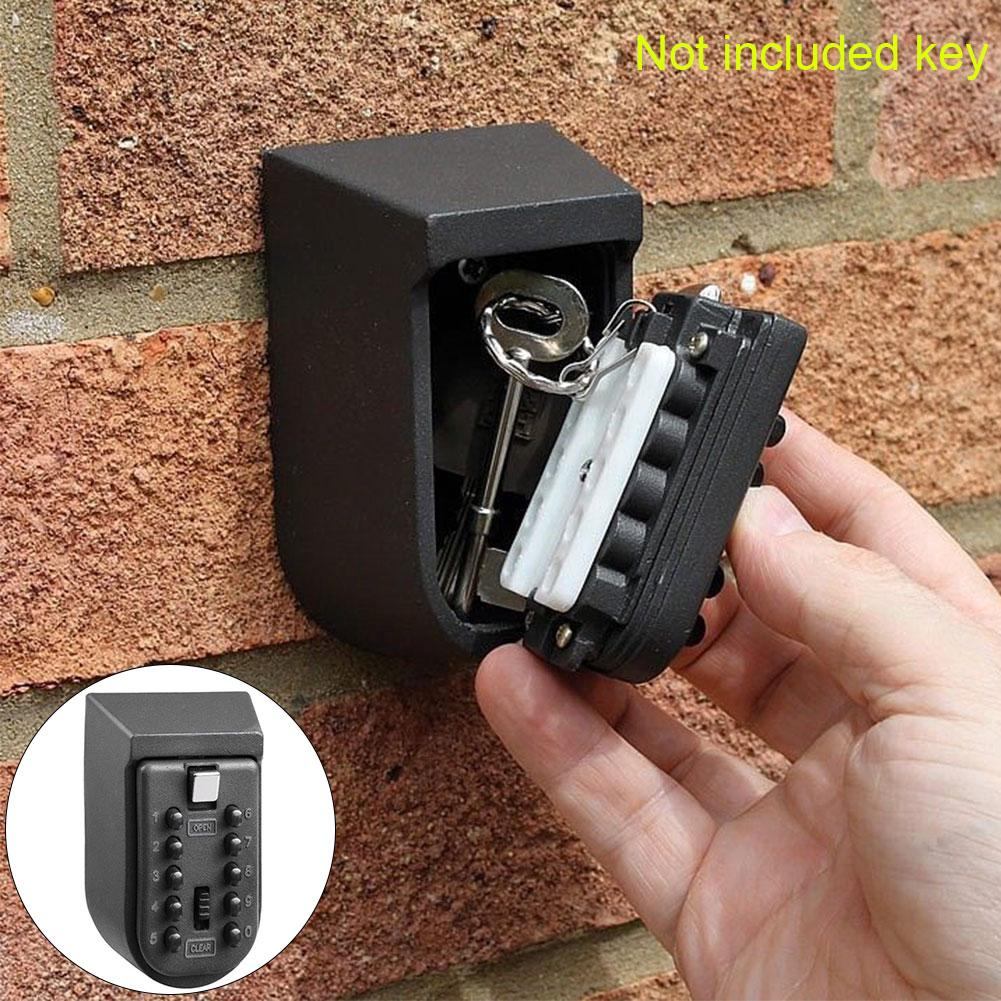 Wall Mounted Digital Password Lock Safe Box Push Button Key