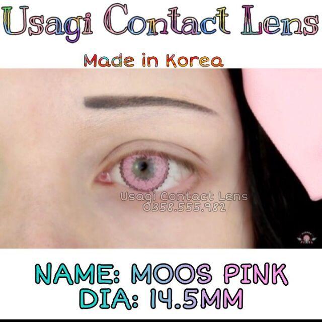 4 mẫu lens hồng Cosplay Nezuko ( Usagi Contact Lens)
