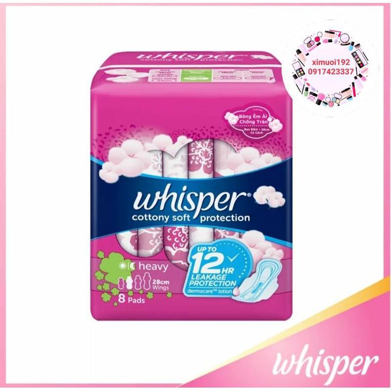 Băng vệ sinh whisper cotton 8 miếng 23cm