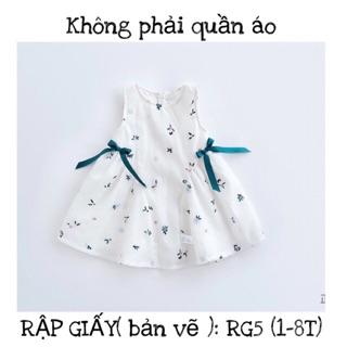 RẬP GIẤY(bản vẽ) RG5_ rập váy bé gái
