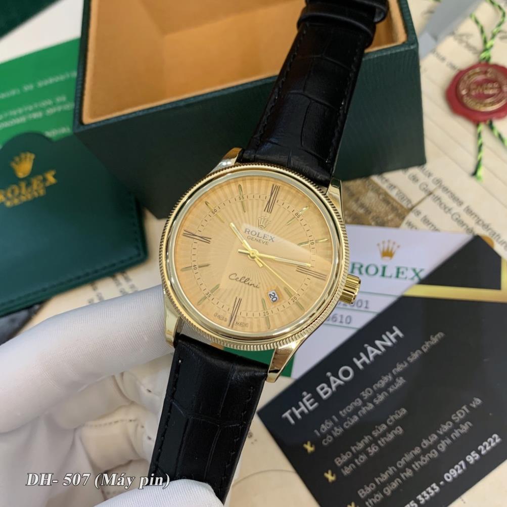 Đồng hồ nam RL máy pin mặt tròn dây da cao cấp có bảo hành DH507 - Shop115
