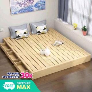 giường 3 ngăn kéo gỗ thông hàng cao cấp tiết kiệm không gian