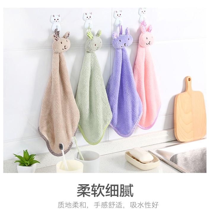 Khăn Lau Tay Hình Vuông Vải Lông Cừu San Hô Thấm Hút Tốt